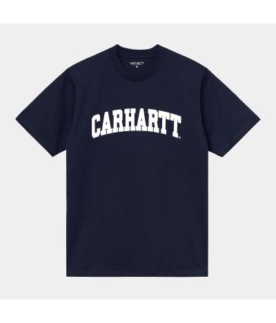 CARHARTT UNIVERSITY T-SHIRT DARK NAVY WHITE