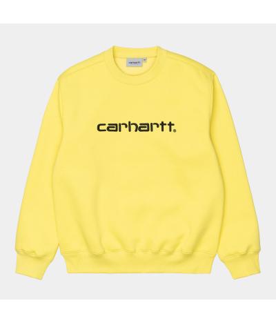 CARHARTT W SWEAT LIMONCELLO BLACK