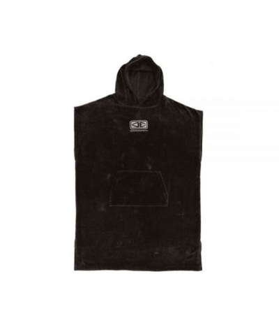 PONCHO SURF OCEAN EARTH BLACK CORP HOODED