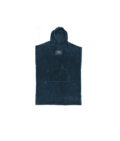 PONCHO SURF OCEAN EARTH NAVY CORP HOODED