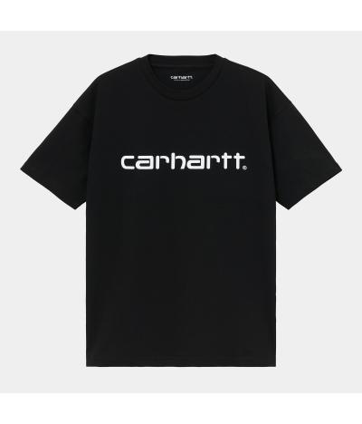 CARHARTT W SCRIPT T-SHIRT BLACK WHITE