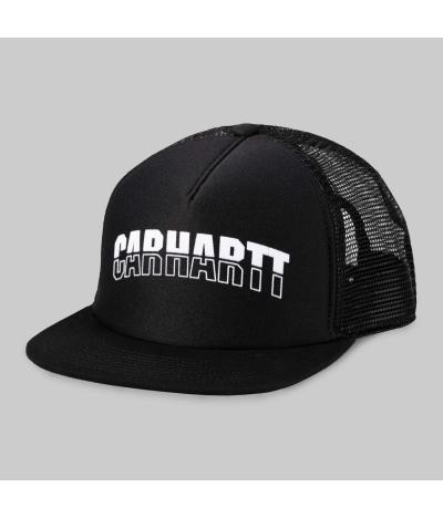 CARHARTT TRUCKER CAP DARK BLACK WHITE