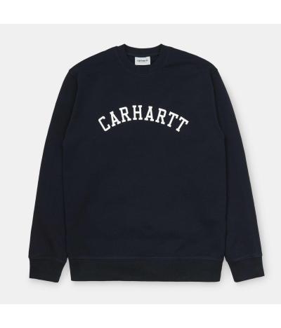 CARHARTT UNIVERSITY SWEATSHIRT DARK NAVY