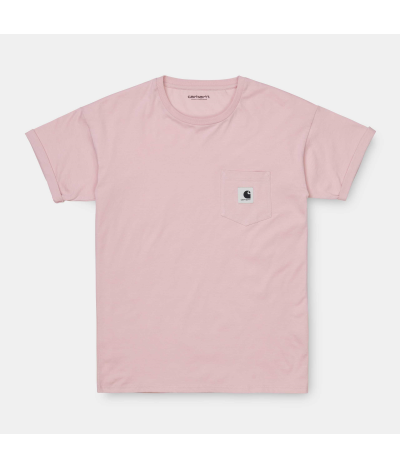 CARHARTT CARRIE POCKET T-SHIRT FROSTED PINK