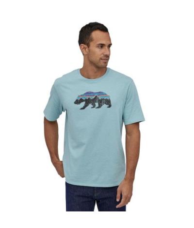 PATAGONIA FITZ ROY BEAR ORGANIC T-SHIRT BIG SKY BLUE
