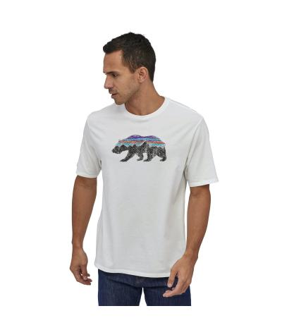 PATAGONIA FITZ ROY BEAR ORGANIC T-SHIRT WHITE