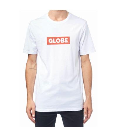 GLOBE BOX TEE WHITE