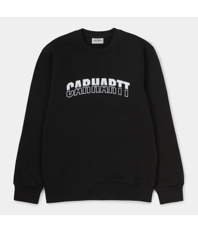 CARHARTT DISTRICT SWEAT BLACK WHITE