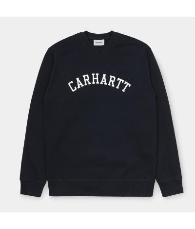 CARHARTT SUDADERA UNIVERSITY DARK NAVY WHITE
