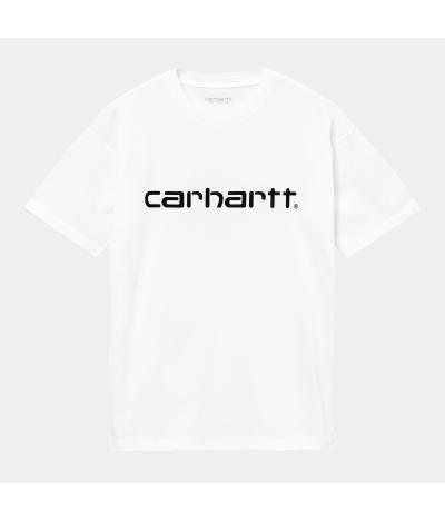 CARHARTT CAMISETA SCRIPT WHITE BLACK