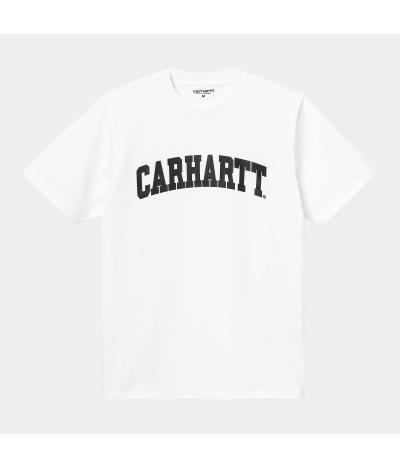 CARHARTT UNIVERSITY T-SHIRT WHITE BLACK