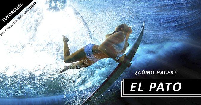 como hacer pato duck dive tutorial blog core surfing