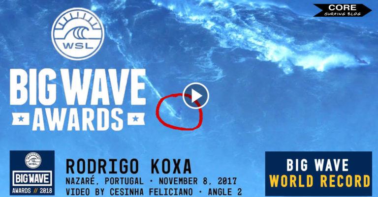 RECORD MUNDO OLA MAS GRANDE BIG WAVE AWARDS 2018 CORE SURFING BLOG SURF