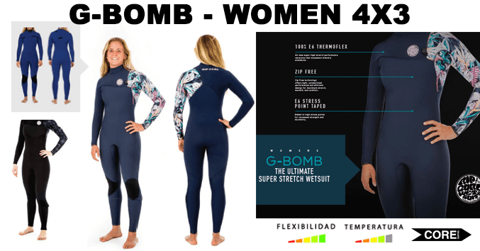 abb7cc2a15c88 g bomb mujer chica comprar barato nuevo 2019 neopreno rip curl wetsuits  barato galicia santiago surf