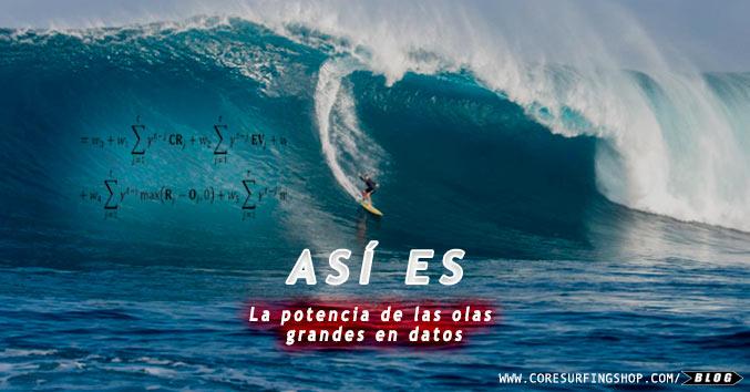 big wave olas grandes potencia velocidad peso analisis core surfing shop galicia surf compostela