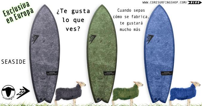 woolight firewire tabla de surf ecologica con lana de oveja sheep wool surfboard comprar online