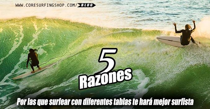tipos de tabla de surf para aprender y progresar en el surf