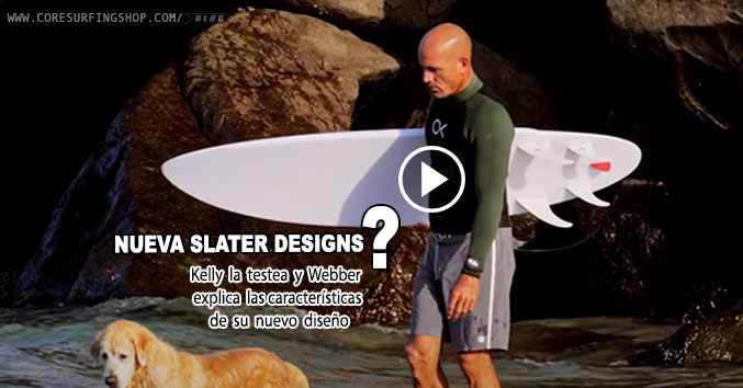 Kelly Slater webber la nueva tabla de surf slater designs y firewire para olas pequeñas rápida y maniobrable.