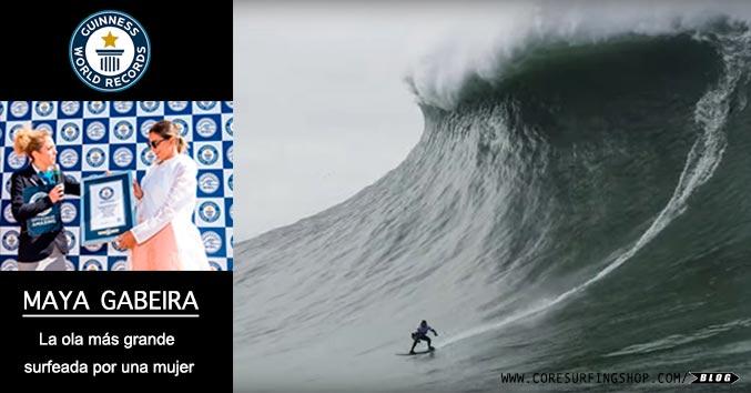 record guinnes la ola mas grande surfeada por una mujer en nazare maya gabeira big wave surfer