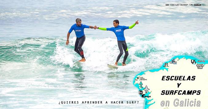 mejores escuelas de surf en galicia