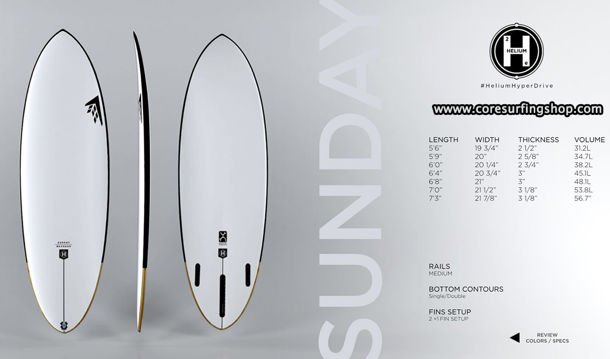 Mid length de rob machado Sunday firewire tablas de surf de 7 pies